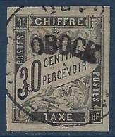 France Colonies Obock Taxe N°3 Oblitéré Superbe !! Signé Brun Et Calves - Oblitérés