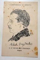 Accords De Gênes 1922 ALBANIA MEHDI BEY FRASHERI - Hommes Politiques & Militaires