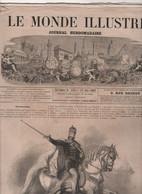 LE MONDE ILLUSTRE 22 06 1867 - EMPEREUR AUTRICHE ROI HONGRIE / HIPPODROME DE LYON / EXPOSITION UNIVERSELLE SUEDOIS - 1850 - 1899