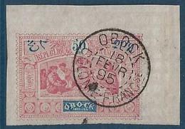 France Colonies Obock N°57  Coin De Feuille Oblitéré Obock Superbe !! - Oblitérés