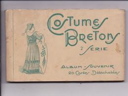 CARNET BRETAGNE Costumes Bretons 2e Serie  20 Vues Complet - Bretagne