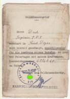 ° WW2 ° PREFECTURE HAUTE-MARNE ° SERVICE De La CIRCULATION ° SAINT-DIZIER ° FELDKOMMANDANTUR - FAHRBEREITSCHAFTSLEITER ° - Documents Historiques