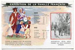 RC 19552 FRANCE 1939 / 1945 PETAIN CARTE DE PROPAGANDE EXPOSITION DE LA FAMILLE FRANÇAISE - War 1939-45
