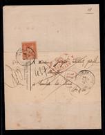 Retour à L'envoyeur Rouge Sur Recommandé De Greffe Avec Affranchissement Type Sage YV 94 - 1876-1898 Sage (Type II)