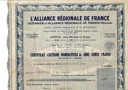 75-ALLIANCE REGIONALE DE FRANCE. L' ... Assurance, Voir Texte. - Other