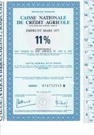 75-CAISSE NATIONALE DE CREDIT AGRICOLE.  1977  11 %    Lot De 3 - Other