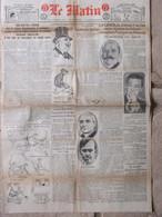 Journal Le Matin (14 Juin 1920) Essad Pacha Assassiné - Sénateur Harding - Enfants Illégitimes - Andere