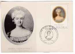 M681 Poland 1972 Marie Leszczynska Maria Reine De France Carte Maximum Card CM MC Maxicard - Tarjetas Máxima