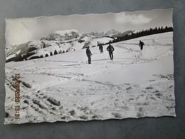 CP 73 CREST VOLAND Vers Flumet -  Le Mont Lachat 1605 M. La Chaine Du Mont Blanc - Skieurs  Sur Le Plateau Neigeux 1950 - Andere Gemeenten
