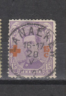 COB 154 Centraal Gestempeld Oblitération Centrale LANAEKEN - 1918 Red Cross