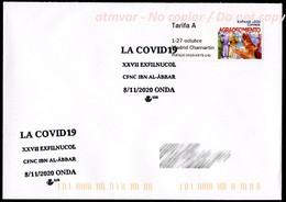 ESPAÑA SPAIN ESPAGNE (2020) - Sobre / Cover ATM Agradecimiento COVID 19 Coronavirus + Special Postmark Covid-19 Onda - Geneeskunde