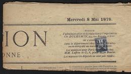 ⭐ France - Type Sage - YT N° 83 - Oblitération Typographique - Sur Son Journal - 1877 ⭐ - Periódicos