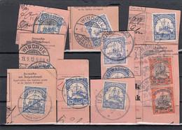 Deutsches Reich Kolonien DSWA 11 Briefmarken Auf Briefstuck - Kolonie: Deutsch-Südwestafrika