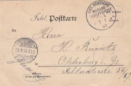 Deutsches Reich China Postkarte 1901 - Kantoren In China