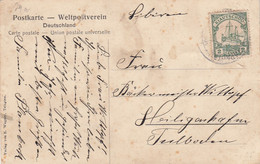 Deutsches Reich Kolonien Kiautschou Postkarte 1908 - Colony: Kiauchau