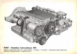 "02111 ""FIAT - AUTOBUS INTERURBANO 314 - MOTORE ORIZZONTALE TIPO 213..............""  ORIG - Tools"