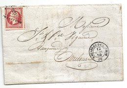 -Hte GARONNE - BAGNERES De LUCHON . PC.229 S/TPND Napoleon III N°17 - Càd T.15 - 1859 - 1853-1860 Napoleone III