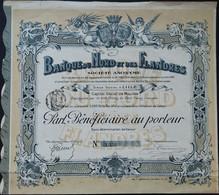 Banque Du Nord Et Des Flandres, Mooie Randvignetten - Banco & Caja De Ahorros