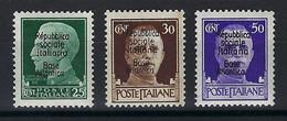 ⭐ France - Timbres De Guerres - Base Navale Italienne De Bordeaux - YT N° 10 à 12 ** - Neuf Sans Charnière - 1943/1944 ⭐ - Kriegsausgaben