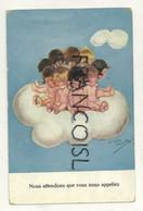 """Bébés Sur Un Nuage. """"Nous Attendons ..."""". Signée Chicky Spark. 1924 - Spark, Chicky"""