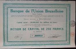 BANQUE De Lúnion Bruxelloise 1923 - Banco & Caja De Ahorros