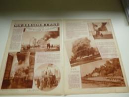 """Origineel Knipsel ( 3015 ) Uit Tijdschrift """" De Stad """"  1931 :  Brand  Pompiers  Pompier  2 Blz. - Sin Clasificación"""