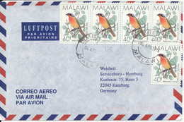 Malawi Air Mail Cover Sent To Germany 4-4-1996 BIRD Stamps - Malawi (1964-...)