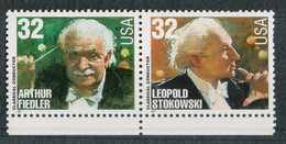 USA Scott # 3158 & 3159  1997  Legends Of American Music - Composers And Conductors    32c   Mint NH  (MNH) - Nuevos
