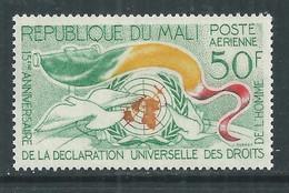 MALI  P. A.  N° 21 X 15ème Anniversaire De La Déclaration Universelle Des Droits De L'Homme Trace De Charnière, TB - Mali (1959-...)