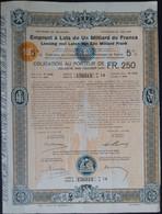Emprunt A Lots De Un Milliard De Francs 5% Herstel Oorlogsschade 1922 Deco ! - Sin Clasificación