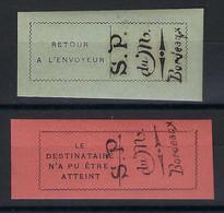 ⭐ France - Postes Monténégrines En Exil à Bordeaux - YT N* 1 Et 2 ** - Neuf Sans Charnière - 1916 ⭐ - Kriegsausgaben