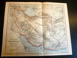 PERSE 1885 Carte Des Télécommunications -GOTHA-JUSTUS PERTHES -Stielers Handatlas -Petermanns Geographische Mitteilungen - Cartes Géographiques