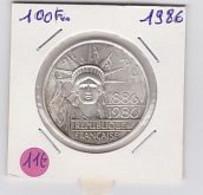 100 Frs  Centenaire De La Statue De La Libertée   1986 - N. 100 Francs