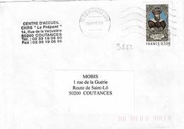 TP N° 3852 Seul Sur Enveloppe De Coutances - 1961-....