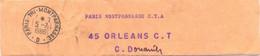 COLLIER SAC POSTAL TàD PARIS-TRI-MONTPARNASSE – D – Du 5-7-1986 - Documentos Del Correo