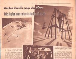 Mine De Charbon Dans La Neige Des Alpes-Huez-Bourg D'Oisans-Grandes Rousses-L'Herpie-Le Patriote Illustré Du 29/12/1946 - 1900 - 1949
