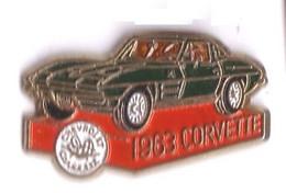 V44 Pin's CORVETTE 1963 CHEVROLET USA Version Qualité Eaf Rare Achat Immédiat - Corvette