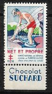 """Vignette Publicité Chocolat Suchard """"contre La Tuberculose"""" 1938 Comité National Neuf * * B/ TB  Le Moins Cher Du Site ! - Tegen Tuberculose"""