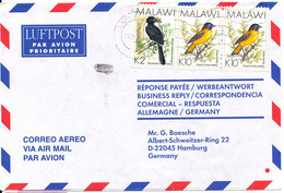 Malawi Air Mail Cover Sent To Germany 20-4-2001 BIRD Stamps - Malawi (1964-...)