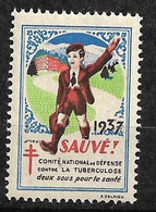 """Vignette  """"contre La Tuberculose"""" 1937    Comité National    Neuf * * B/ TB    Le Moins Cher Du Site ! ! ! - Tegen Tuberculose"""