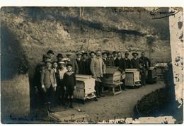LUYNES - Carte Photo 1913 - Visite D'Hivernage Au Rucher Ecole, Apiculture - Luynes