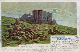 12822  -TCHEQUIE - POLOGNE  :  RIESENGEBIRDE  PETERSBAUDE     - Circulée En 1898  -   LITHOGRAPHIE - Polonia