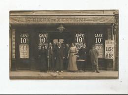 CARTE POSTALE ANCIENNE PHOTO NON SITUEE CAFE (AVEC BIERES DE XERTIGNY) VERSAILLES ? - To Identify