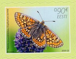 Estonia - 2020 - Butterfly Of The Year – Marsh Fritillary - Mint Self-adhesive Stamp - Estonia