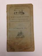 Livre Règlement Sur Les Sections De Mitrailleuses D'Infanterie 1913  Ww1  14-18 - 1914-18
