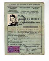 PERMIS De Navigation De Plaisance A Moteur De Mr Jean Desmoulin - Documents Historiques
