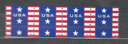 USA Scott # 4385        2009  Patriotic Banner Strip Of 4 With Plate No. 070   10c  Mint NH  (MNH) - Nuevos