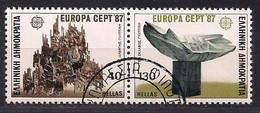 Cept 1987 Grèce Greece Griekenland Yvertn° 1632-1633 (o) Oblitéré - 1987