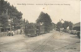 RIVA-BELLA  ( Calvados )  -  Arrivée  Du  Train  De  Caen  à  La  Gare  Du  Tramway - Riva Bella