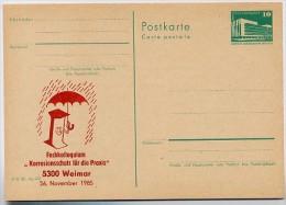 DDR P84-35-85 C129 Postkarte Zudruck KOLLOQUIUM KORROSIONSSCHUTZ Weimar 1985 - Postales Privados - Nuevos